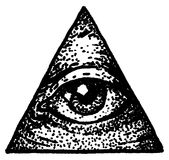 Illustrazione di scarabocchio dell'occhio Fotografia Stock Libera da Diritti