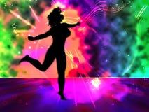 Illustrazione di schiocco della donna di Dancing Fotografie Stock