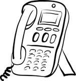 Illustrazione di schizzo del telefono dell'ufficio illustrazione vettoriale