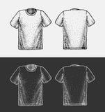 Illustrazione di schizzo della maglietta Immagine Stock