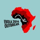 Illustrazione 2014 di scoppio del virus di Ebola Fotografia Stock Libera da Diritti