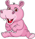 Fumetto divertente dell'ippopotamo Fotografia Stock Libera da Diritti