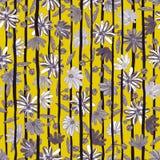 Illustrazione di senza cuciture floreale Fiori grigi e bianchi Fotografia Stock Libera da Diritti