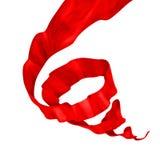 Illustrazione di seta rossa di spirale del mulinello Fotografia Stock Libera da Diritti