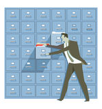 Illustrazione di sicurezza e di protezione dei dati Fotografia Stock