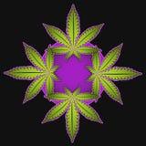Illustrazione di simbolo del fumetto della marijuana Fotografia Stock Libera da Diritti