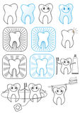 Illustrazione di simbolo di Teeth.Vector Fotografie Stock