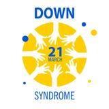 Illustrazione di sindrome di Down, fondo bianco, Fotografia Stock