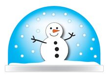 Illustrazione di Snowglobe Fotografie Stock