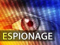 Illustrazione di spionaggio Immagine Stock