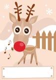 Illustrazione di stagione di inverno di festa della renna. illustrazione di stock