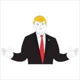 Illustrazione di stile del fumetto di presidente Donald Trump Immagini Stock Libere da Diritti