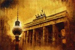 Illustrazione di struttura di arte di Berlino Fotografie Stock Libere da Diritti