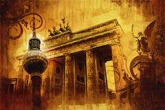 Illustrazione di struttura di arte di Berlino Immagine Stock