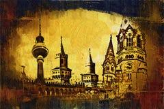 Illustrazione di struttura di arte di Berlino Fotografia Stock