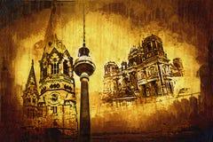 Illustrazione di struttura di arte di Berlino Immagine Stock Libera da Diritti