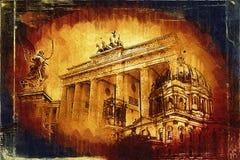 Illustrazione di struttura di arte di Berlino Immagini Stock