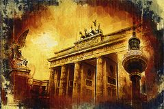 Illustrazione di struttura di arte di Berlino Fotografia Stock Libera da Diritti