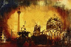 Illustrazione di struttura di arte di Berlino Immagini Stock Libere da Diritti