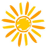 Illustrazione di Sun dipinta Fotografia Stock