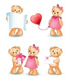 Illustrazione di Teddy Bears Collection Love Vector Illustrazione Vettoriale