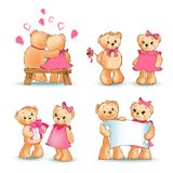 Illustrazione di Teddy Bears Collection Love Vector Royalty Illustrazione gratis