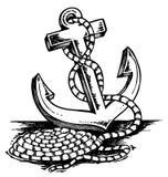 Illustrazione di tema dell'ancoraggio illustrazione vettoriale