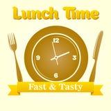 Illustrazione di tempo del pranzo Fotografia Stock