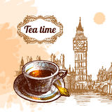 Illustrazione di tempo del tè Immagine Stock