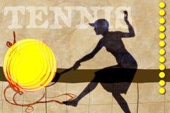 Illustrazione di tennis Immagini Stock