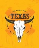 Illustrazione di Texas Pride Rough Vector Illustration Grunge sul fondo macchiato della parete illustrazione vettoriale