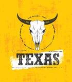 Illustrazione di Texas Pride Rough Vector Illustration Grunge sul fondo macchiato della parete royalty illustrazione gratis