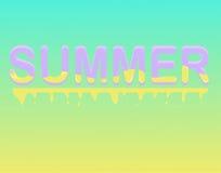 Illustrazione di tipografia di estate Fotografia Stock Libera da Diritti