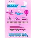 Illustrazione di trasporto Fotografia Stock Libera da Diritti