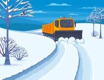Illustrazione di trasporto della neve royalty illustrazione gratis