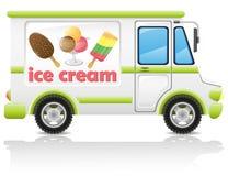 Illustrazione di trasporto di vettore del gelato dell'automobile Fotografia Stock