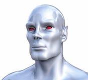 illustrazione di umanoide di romanzo isolata 3D Fotografie Stock