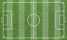 Illustrazione di un campo di calcio Fondo del campo di calcio o del campo di football americano Immagine Stock Libera da Diritti
