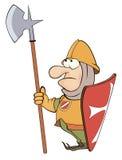 Illustrazione di un cavaliere del fumetto Fotografie Stock Libere da Diritti