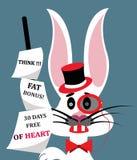 Illustrazione di un coniglio turbato che invita tutti a pensare royalty illustrazione gratis