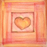 Illustrazione di un cuore Immagini Stock