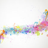 Musicnotes variopinto Fotografie Stock