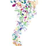 Musicnotes variopinto Immagine Stock