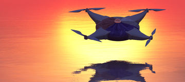illustrazione di un fuco di volo Fotografia Stock