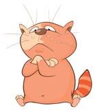 Illustrazione di un gatto sveglio Personaggio dei cartoni animati Immagini Stock Libere da Diritti