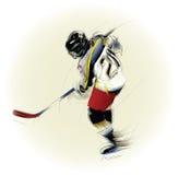 Illustrazione di un giocatore di hickey del ghiaccio Immagini Stock Libere da Diritti