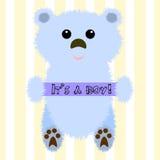 Illustrazione di un orso per la doccia di bambino Immagine Stock