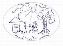 Illustrazione di un padre e di un figlio illustrazione vettoriale