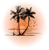 Illustrazione di un paesaggio Fotografie Stock