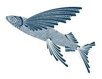 Illustrazione di un pesce volante Fotografie Stock Libere da Diritti